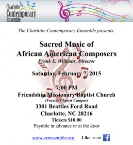 CCE Sacred Music Concert
